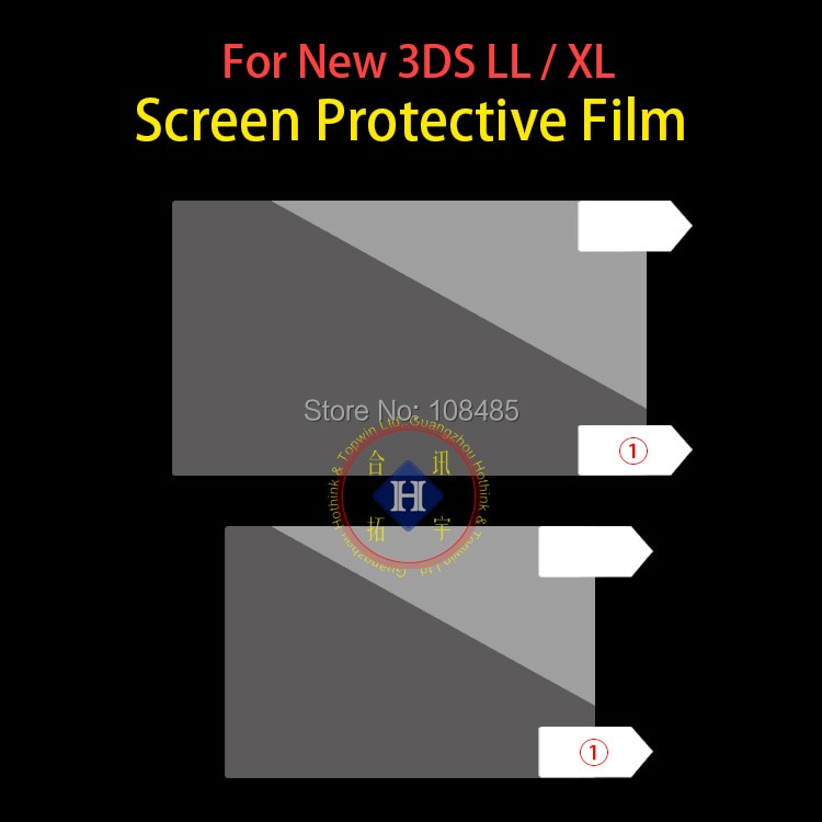 100 قطعة/الوحدة العلوي والسفلي شاشة LCD حامي فيلم الحرس لنينتندو جديد 3DS XL / 3DS LL (2015 نسخة)