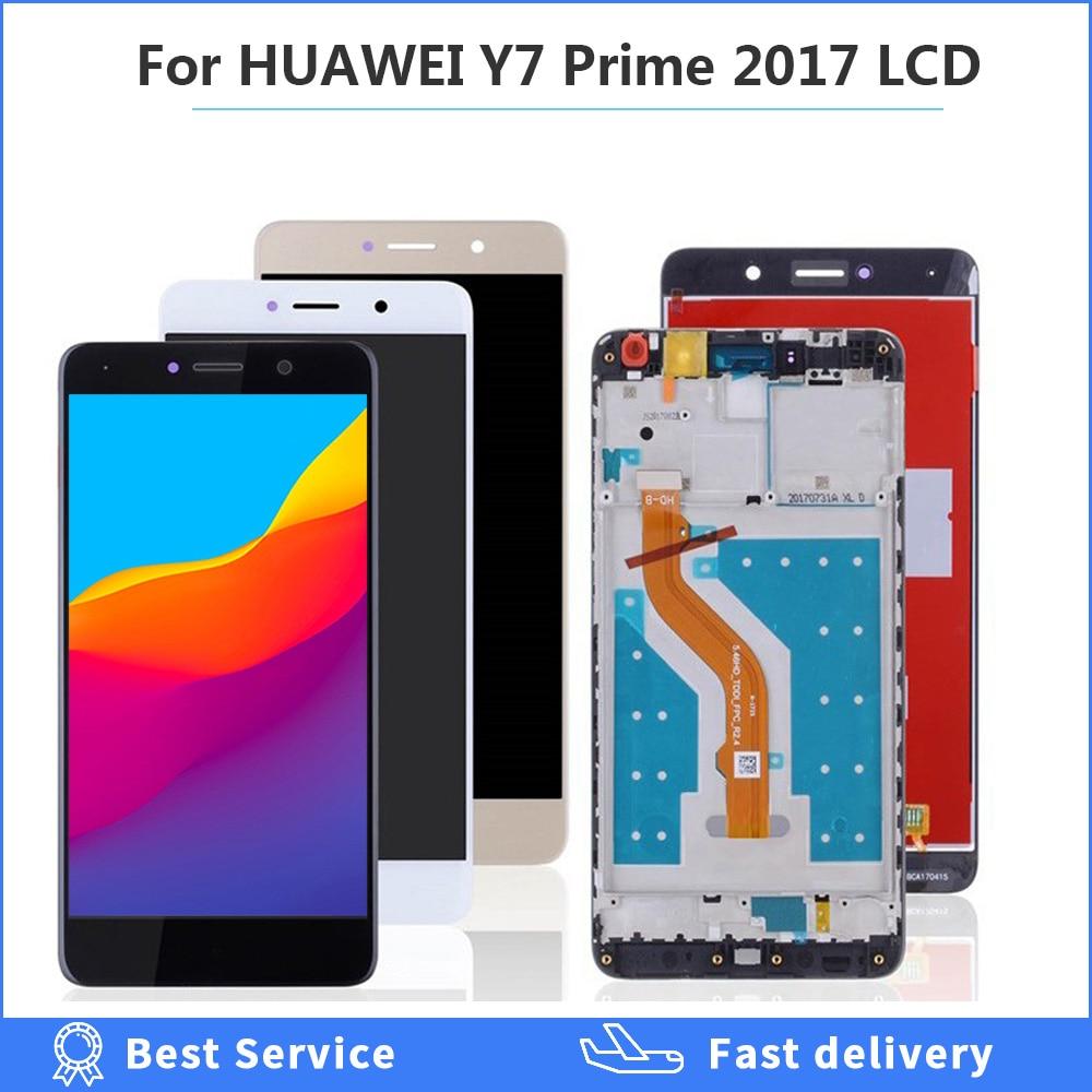 محول رقمي لشاشة تعمل باللمس لهاتف HUAWEI Y7 Prime ، شاشة LCD بإطار TRT L21 L21A L21X LX2 LX1 LX3 ، لهاتف Huawei Y7 Prime 2017