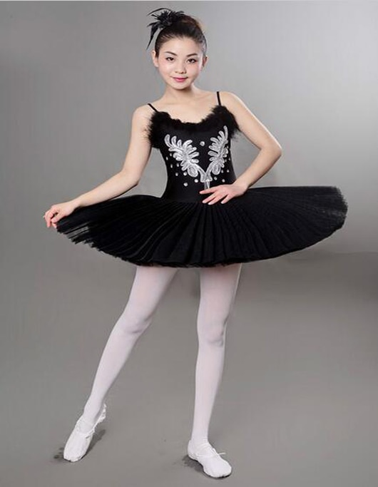 Traje de Ballet Blanco/negro con diamante, lago Cisne, chicas, 6 capas, trajes de Ballet para mujeres, adultos clásicos, vestido de bailarina para bailar