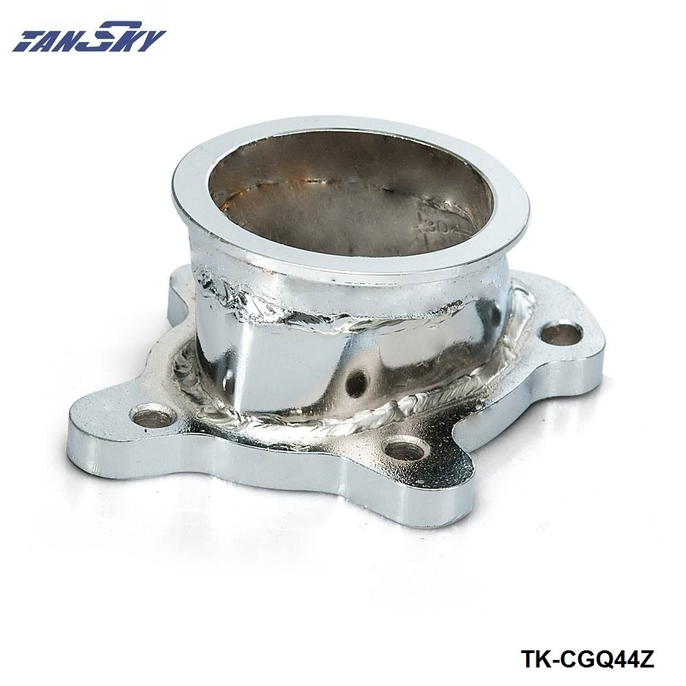 "Tubo de bajada Turbo para GT25 GT28 T25 T28, 5 tornillos a banda de 2,5 ""63mm V, adaptador de pestaña TK-CGQ44Z"