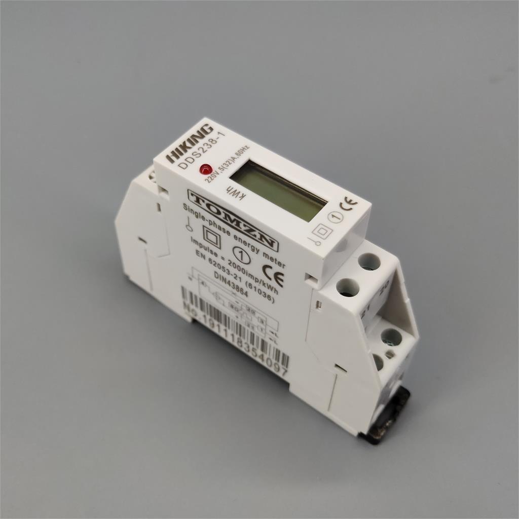 5 (32) a 220 v 60 hz fase monofásica do trilho do ruído kwh watt hora din-trilho medidor de energia lcd