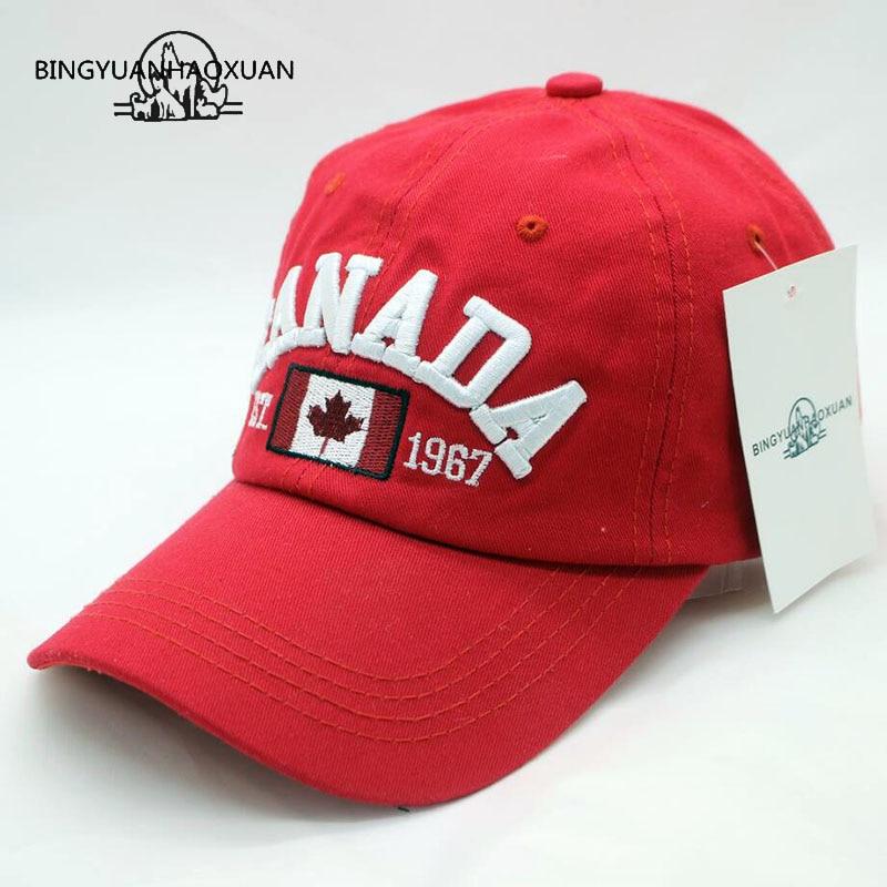 [Bingyuanhaoxuan] marca canadá carta bordado bonés de beisebol snapback chapéu para homens feminino lazer boné atacado