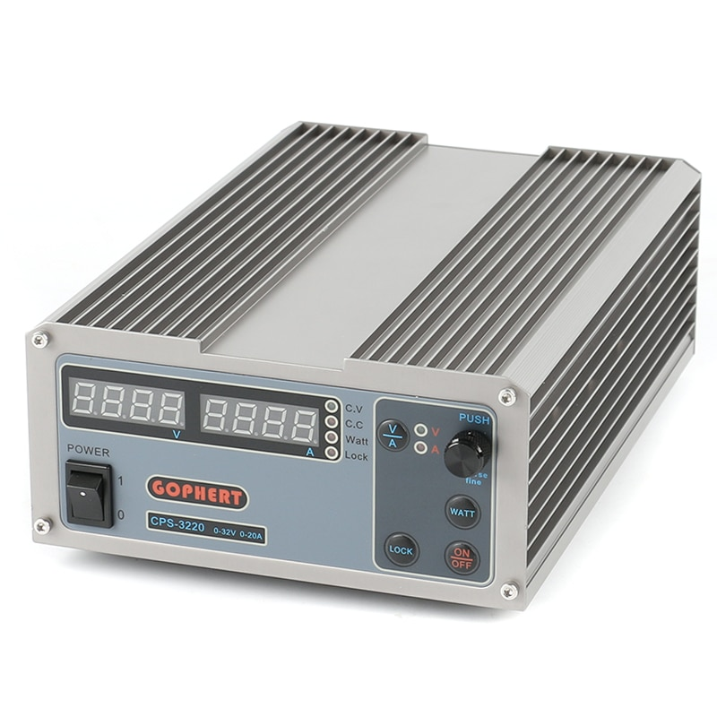 CPS-3220 High Power Digital DC Power Supply 32V 20A Mini Adjustable Compact Laboratory Power Supply EU/AU Plug