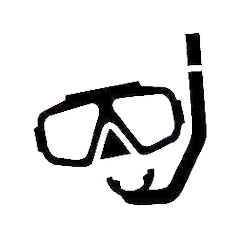 Scuba Diver Mask Diving Underwater Computer Laptop Symbol Decal Family Love Car Truck Sticker Window
