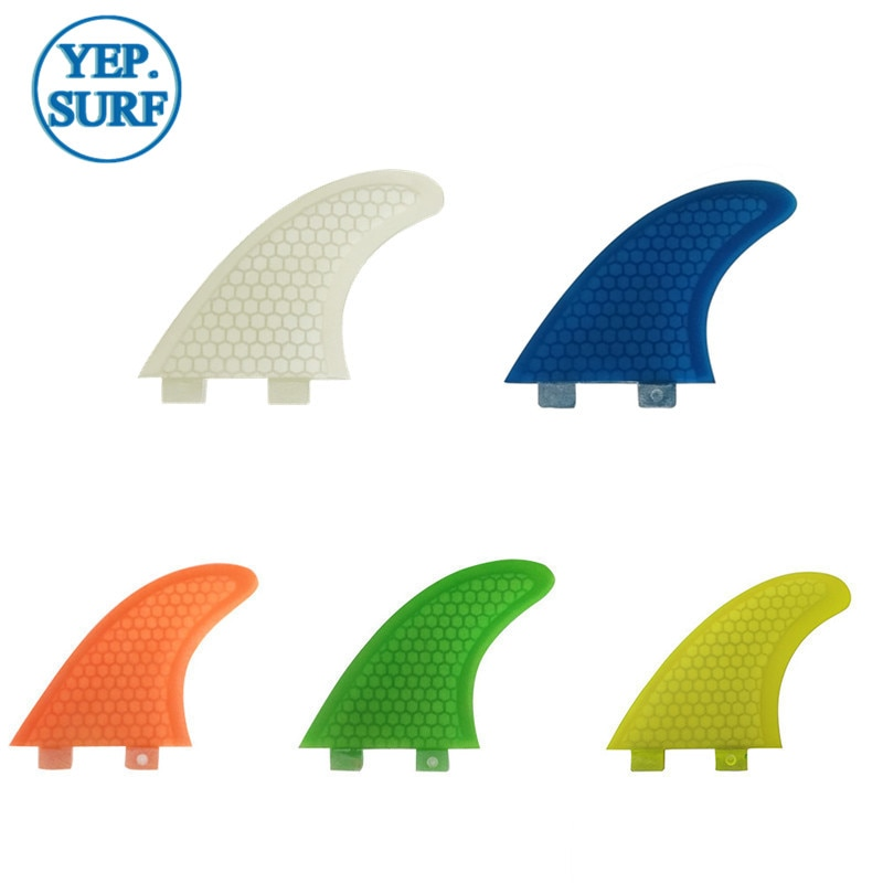 Surfboard Fibreglass Fin FCS G5 Fin Honeycomb Surf Fin G5 Quilhas Surf FCS Fin orange 5 colors