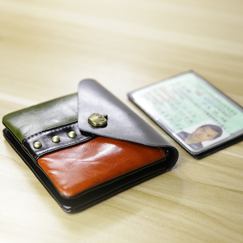 Moda 2018 carteiras masculinas de couro genuíno carteiras para cartão de crédito costura marca luxo curto carteira feminina bolsa carteria