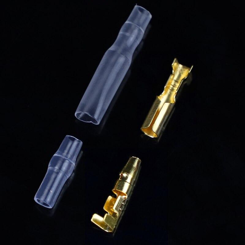 3.5 bullet מסוף רכב חשמלי חוט מחבר קוטר 4mm פין סט 50sets = 200pcs נקבה + זכר + מקרה כבישה קרה מסוף