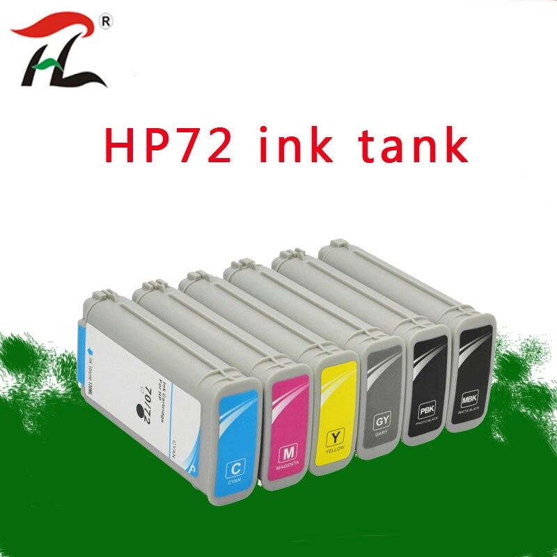 130 مللي متوافق ل HP72 HP72 HP 72 hp72 72 خراطيش الحبر ل HP ديزاين T1100 T1120 T1120ps T1100ps 1100 T610T1100 طابعة