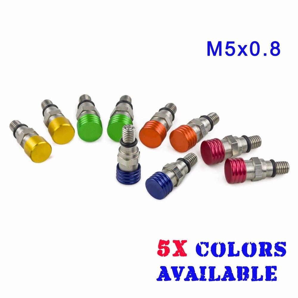 M5x0.8 widelec pneumatyczne upustu ZAWÓR NADMIAROWY dla Yamaha YZ85 YZ125 YZ250 YZ250F YZ400F YZ426F YZ450F YZ 85 125 250 250F 400F 426F 450F