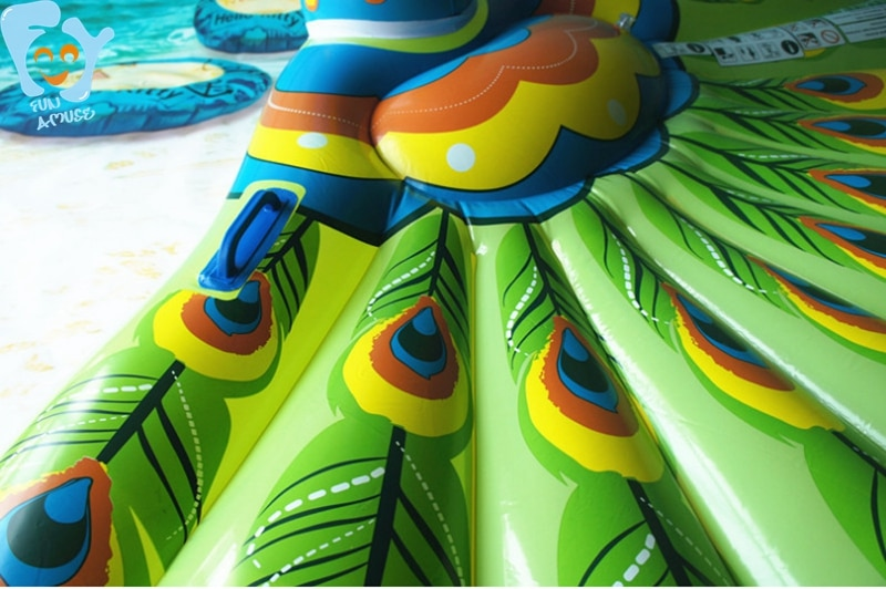 190cm Giant Inflatable Peacock Pool Float Inflatable Ride-on Floating Mattress Swimming Toys Water Fun Raft