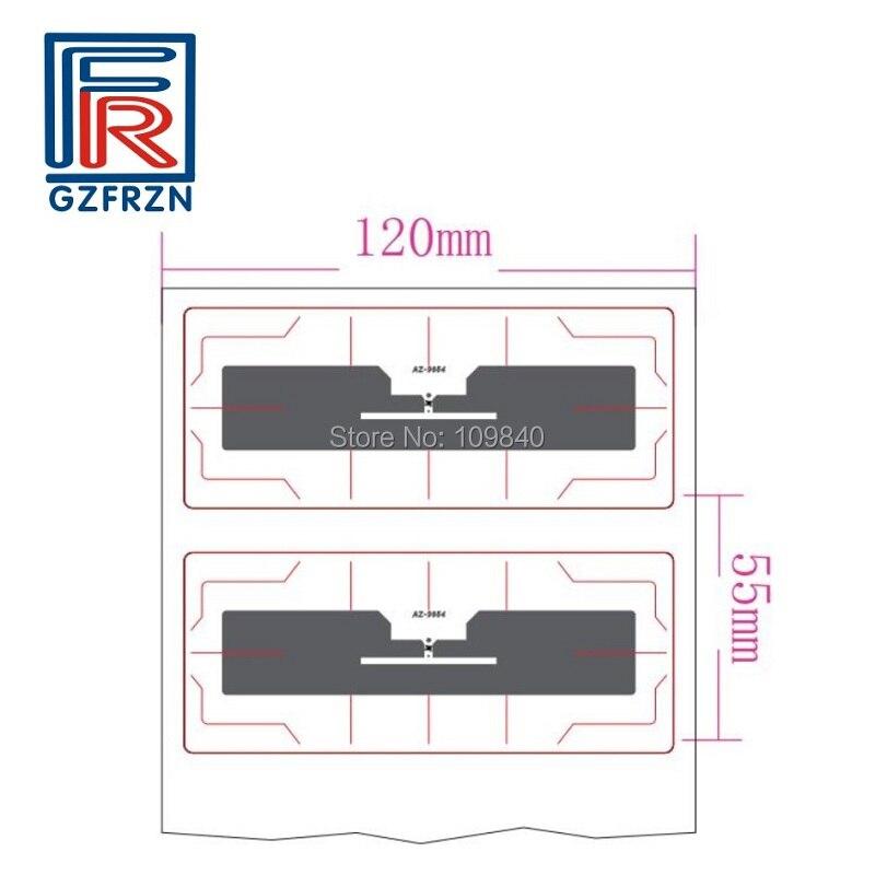 200 pcs/roll ISO18000-6C PET windshield etiqueta tag/etiqueta/cartões UHF passiva rfid tag para o acesso de Veículos sistema de controle