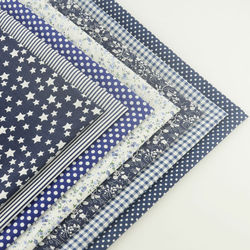 Decoração de mesa para scrapbooking, pacotes de 7 peças para materiais de algodão, tecido liso, artesanal, tecidos de arte têxtil para casa