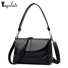 2019 Envelope Crossbody Leather Bag New Women Messenger Bag Ladies Handbag High Quality Fold Cover Flap Female Shoulder Bags