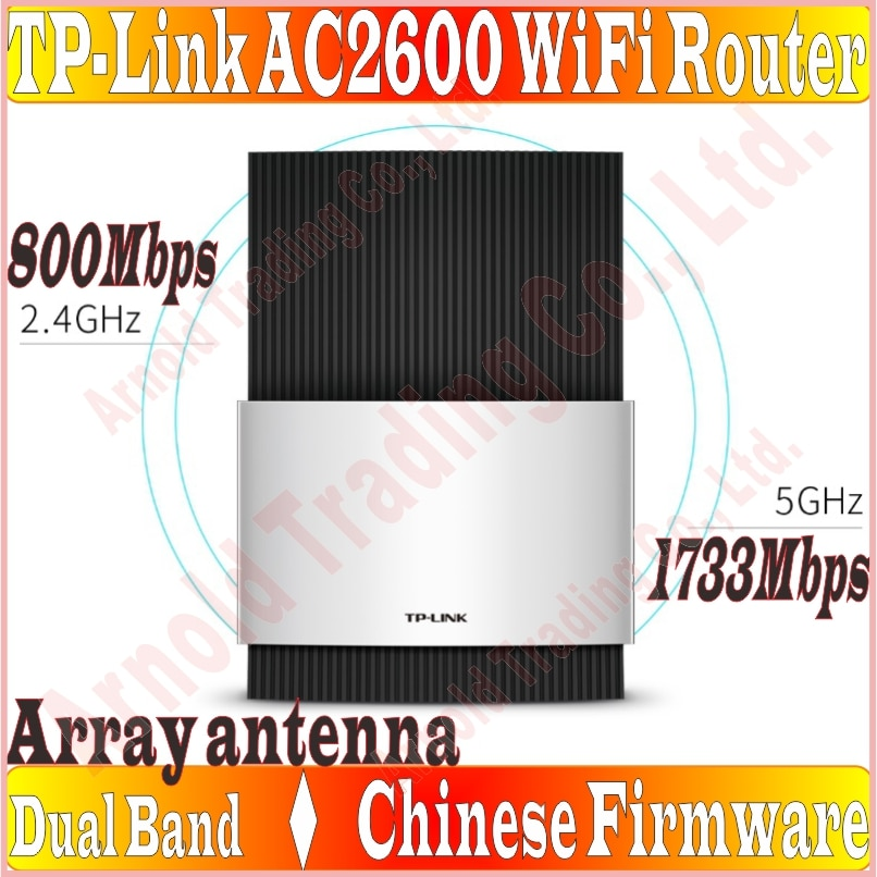 Firmware chino, matriz de antena TP-LINK enrutador inalámbrico 802.11AC 2533Mbps banda Dual Gigabit AC2600 gran enrutador WiFi, 1000M puertos