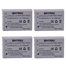 Batteries Li-ion haute capacité 3.7 V 1200 mAh (paquet de 4) EN-EL5 ENEL5 EN EL5 pour Nikon Coolpix 3700 Coolpix 4200 5200 Coolpix 5900