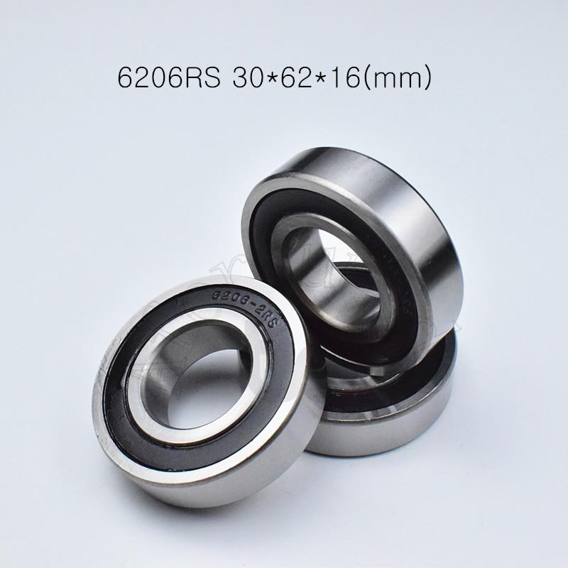6206 6206rs 30*62*16 (mm) 1 peça rolamentos de aço cromado rolamento sulco profundo