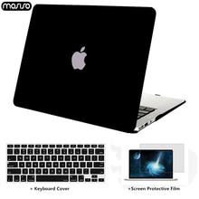 MOSISO Crystal  Matte housse dordinateur portable pour Apple macbook Air Pro Retina 11 12 13 15 sacoche dordinateur portable pour macbook Air 13 étui + housse de clavier