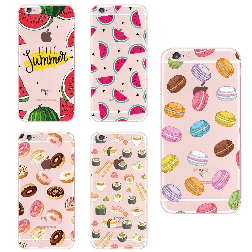 Чехол для телефона с фруктовым кофе, ананасом, лимонный банановый кактус, клубника, суши, для Apple Iphone 5, 6, 7 Plus, 8, 8 PLUS, XS Max, для SAMSUNG