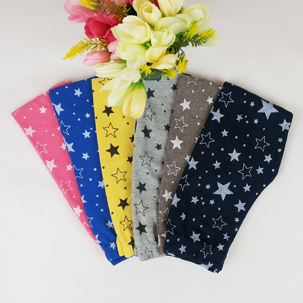 Pantalones pitillo elásticos cálidos ajustados para niños y niñas, pantalones pitillo con estampado de estrellas 2019