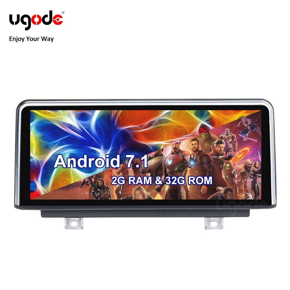 "Ugode Android 7,1 sistema de navegación GPS de coche estéreo 10,25 ""pantalla IPS para BMW Serie 3 F30 F31 F33 F36 F80 F81 F84 de la fábrica de China"