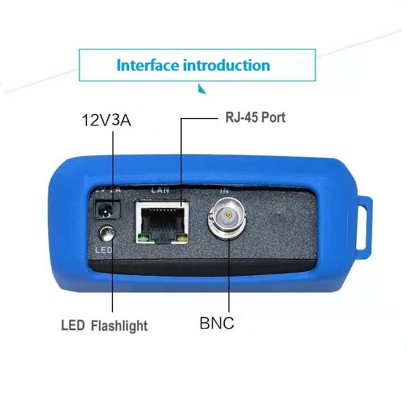 IPC9310 POE/wifi/AHD/TVI/CVI/Analog 4.3'' 5 in one Touchscreen CCTV Tester for IP/Analog Camera, 1080P, BNC Network Cable Tester enlarge