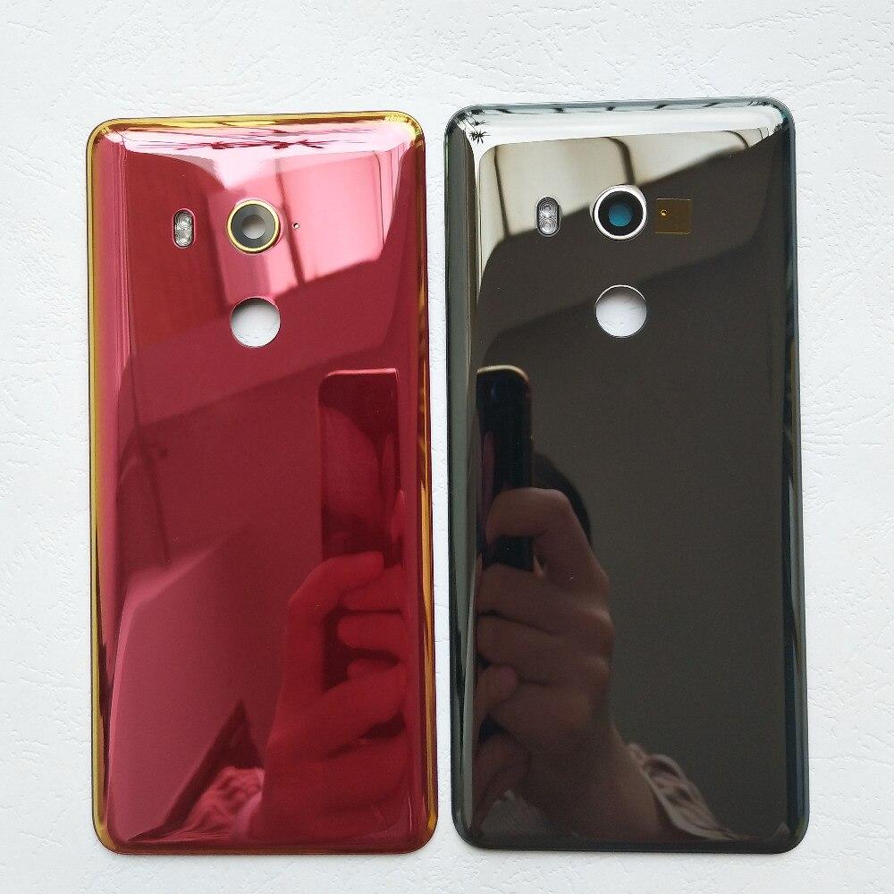 Para HTC U11 ojos vidrio cubierta de batería trasera funda carcasa trasera con lente de cámara + Luz de Flash Ojos carcasa trasera