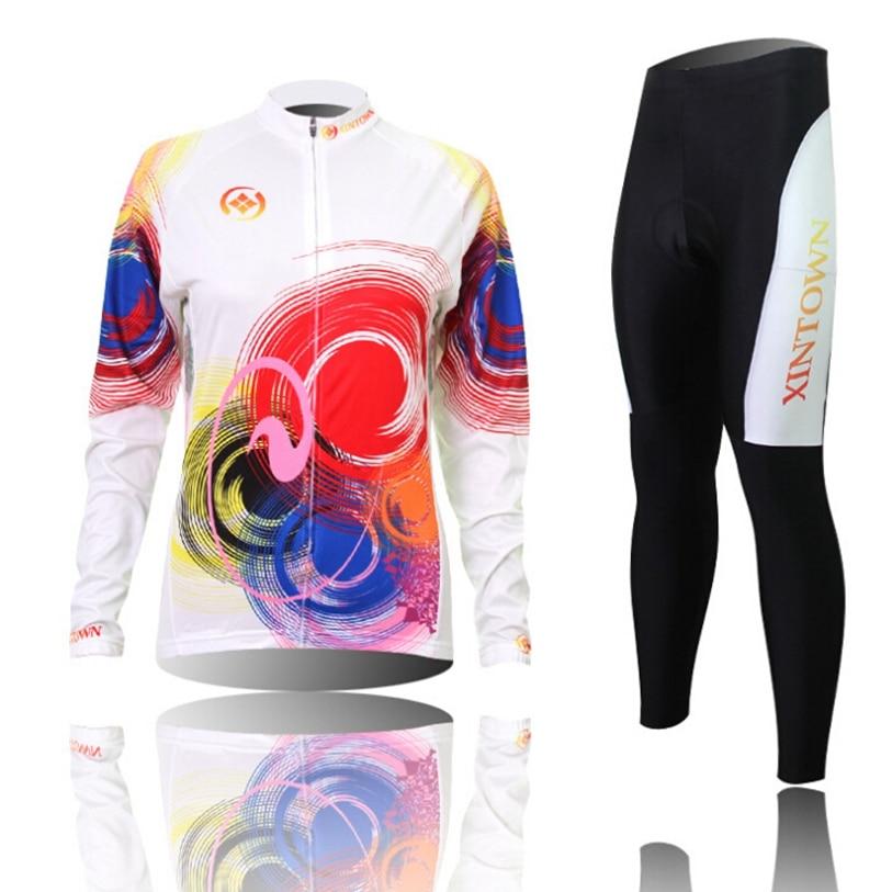 ¡Oferta! jersey largo XINTOWN para mujer, pantalones de sombra, equipo de ciclismo profesional, Top de ciclismo, camisetas de manga larga