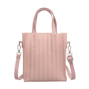 fashion 2019 famous designer brand Classic size bagstyle waterproof EVA body women love pink handbag Rubber Silicon leather Bag