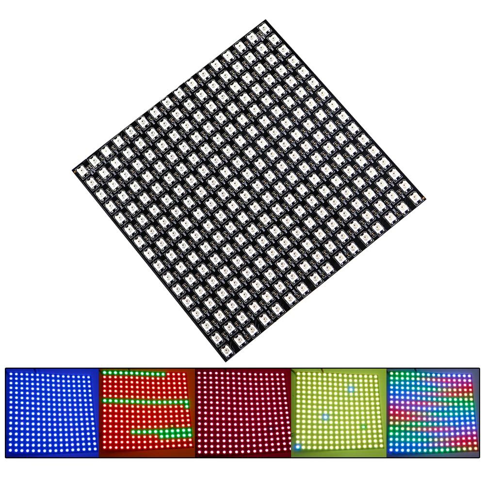 RGB Panel de LED matrix WS2812 SMD 5050 16*16 píxeles 256 píxeles colorido Digital Panel LED Flexible DC5V JQ