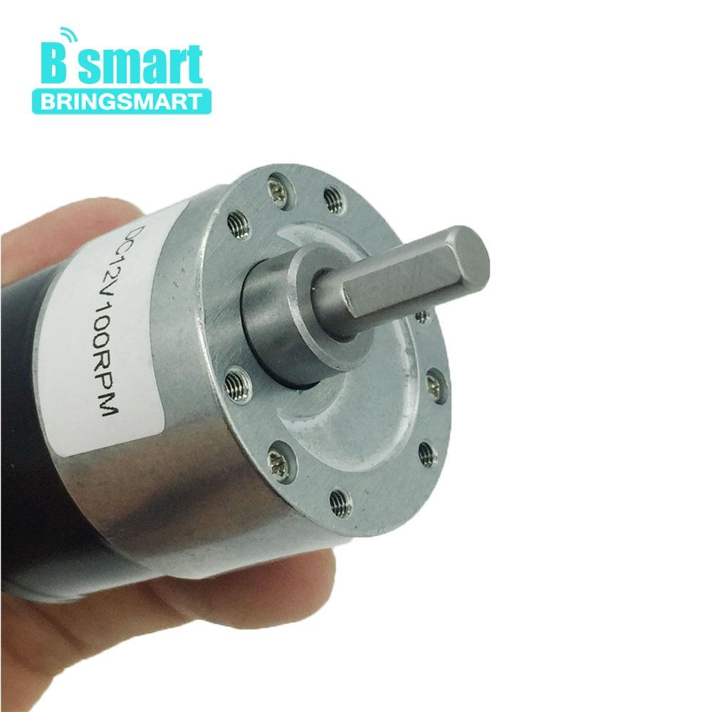 Bringsmart Micro Motor JGB37-3625 DC 12v rotar la máquina reductora de velocidad 4-480rpm Motor eléctrico sin núcleo 24v