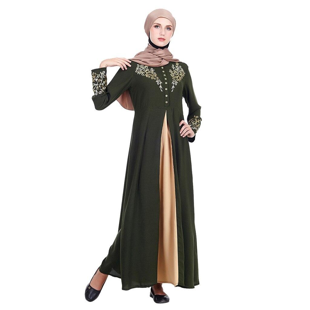 Vestido kaftan Dubai Abaya MyBatua Abaya con Hijab Jilbab islámico vestido Maxi musulmán Burqa marocain Z411