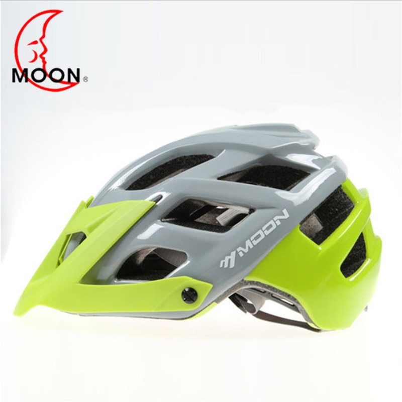 Luna casco de montar Montañoso Integrado deportes al aire libre + aleros de seguridad para hombres casco de ciclismo carretera a49