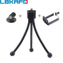 LBKAFA 3 в 1 мини металлический гибкий штатив держатель подставка + адаптер + зажим для телефона для GoPro Hero 6 5 4 3 + для SJCAM Mijia YI