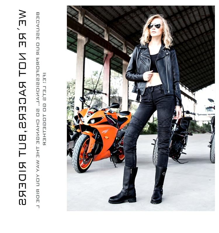 Newest Cool Uglybros moto pants UBp09 stylish jeans women jeans Motorcycle pants Jeans girl jeans motor pants black
