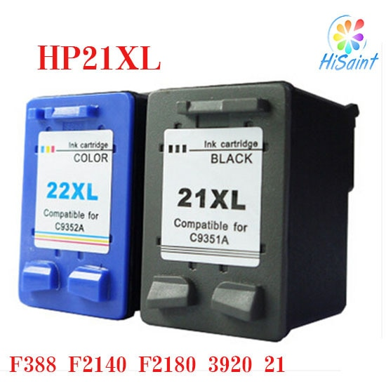Hisiant Tinte Patrone kompatibel für HP 21XL 22XL für HP Dsekjet D1360 D1460 D2360 D2460 3920 3940 F370 Remanufactured