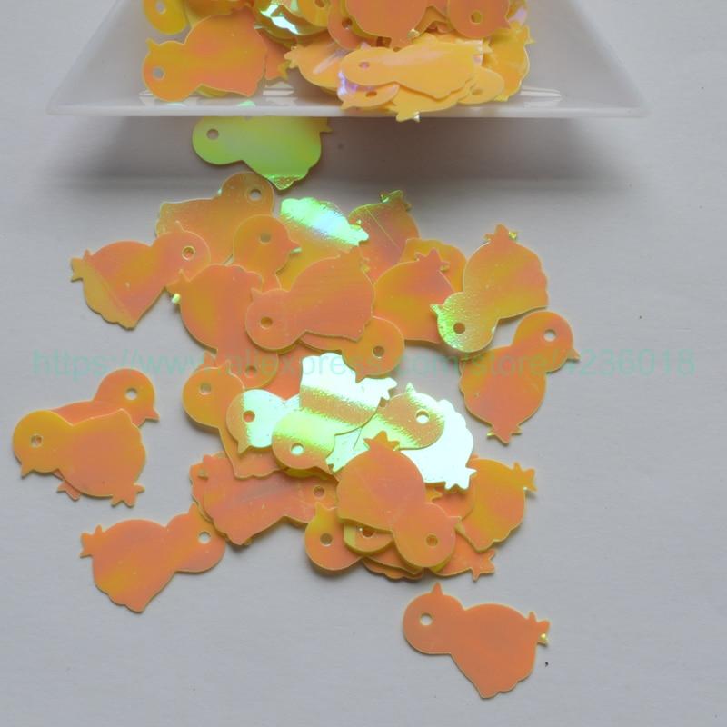 25g 11*17mm fiesta de Navidad AB en forma de pato PVC suelto lentejuelas para artesanías lentejuelas para coser Decoración Ropa de chico DIY accesorio