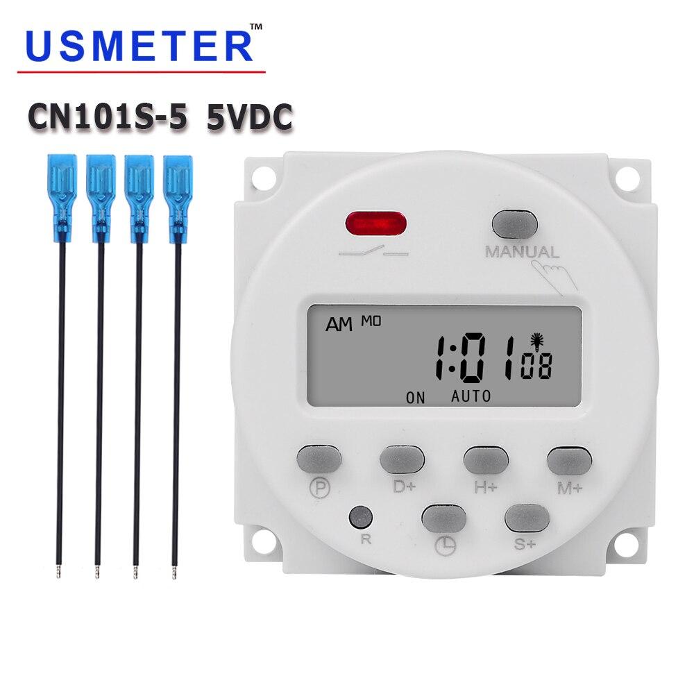 CN101S 5V económico segundo interruptor com temporizador Digital programable, relé temporizador Industrial, controlador automático, temporizador de lámpara