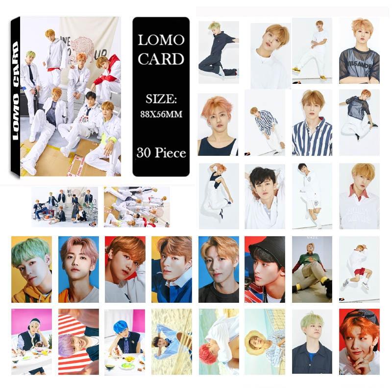 Youpop NCT SONHO Subimos Álbum LOMO KPOP Photocard K-POP Nova Moda Auto moldura Feita de Papel Cartão Cartões LK612