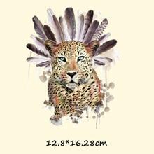 Patchs de transfert en forme de tigre de léopard   Patchs de transfert thermique, pyrographie, repassage, lavable, autocollant pour vêtements, Appliques en tissu pour t-shirts