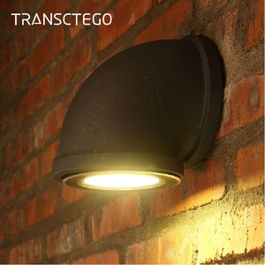Retro Led Wall Lamp Industrial European Vintage Style Iron Indoor Rust Pipe Wall Light For Bedroom Restaurant Bar Kitchen Cafe