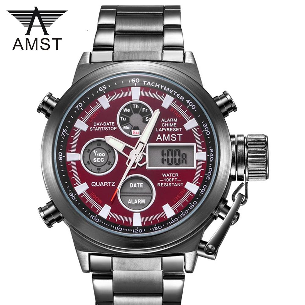 Moda creativa relojes militares deportivos de pulsera 2019 nueva moda Relojes hombres de marca de lujo impermeable analógico Digital LED relojes de cuarzo