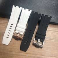 Ремешок резиновый для часов AP26400 44 мм, водонепроницаемый мягкий силиконовый браслет для наручных часов, 30 мм, черный белый