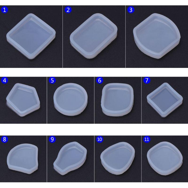 Silicone Mold DIY Jewelry Making Round Geometric Fan Shape Pendant Epoxy Resin