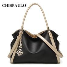 CHISPAULO Brand Designer Handbags High Quality Genuine Leather Bags For Women Messenger Bags Fashion Womens Shoulder Bags T580