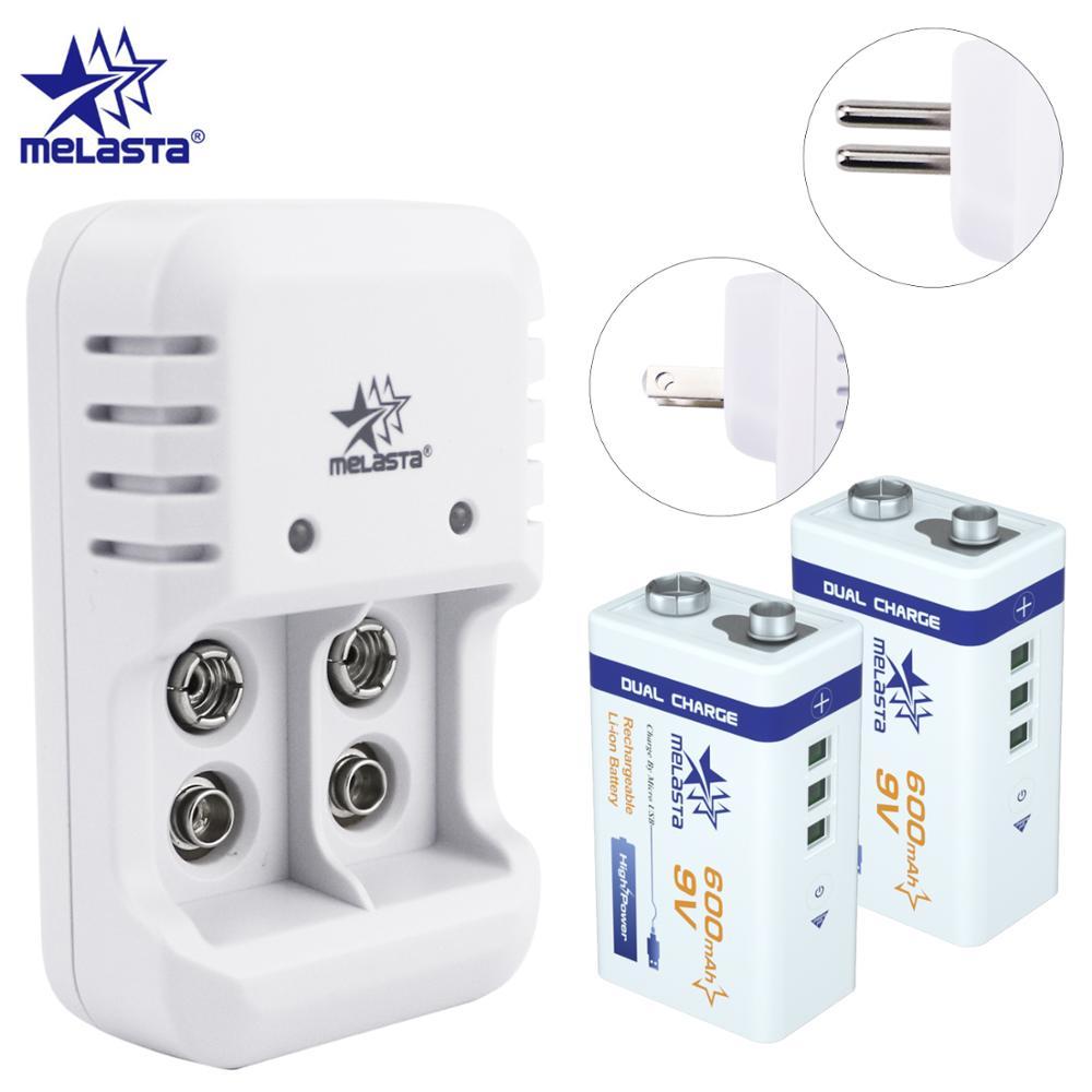 9V 6F22 PPP3 USB 600mAh Lipo lithiumionen-akku + 9V LED Ladegerät für rauch alarm wireless mikrofon Gitarre Intercom
