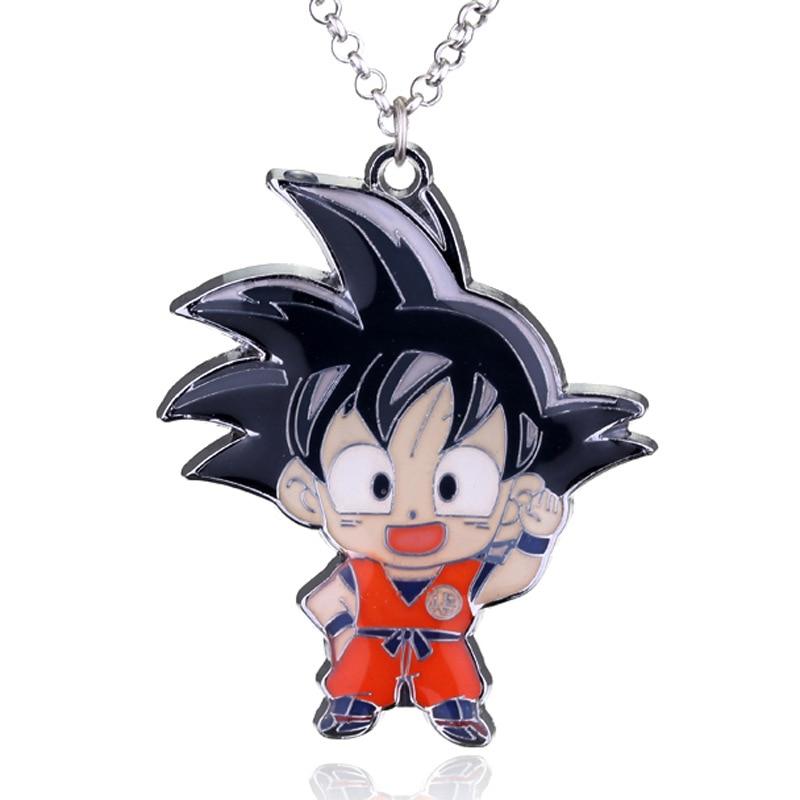 La bola del dragón del Anime DragonBall Z logotipo Super Saiyan Goku Shenron llavero, collar juguetes colgantes figura de acción Cosplay Juguetes