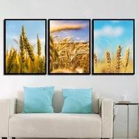 Affiche de mode nordique imprime ble et Grain coucher de soleil paysage photos salon toile mur Art peinture Cuadros decor a la maison