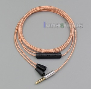 With Mic Remote Copper Shielding Earphone Cable For Sennheiser IE8 IE8i  LN005549