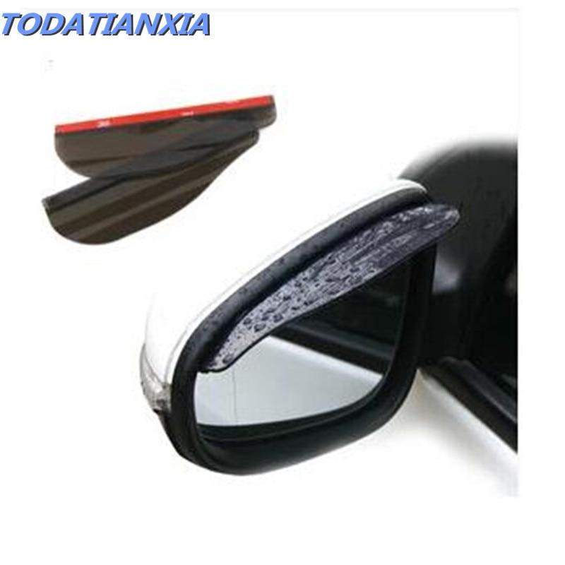 Accesorios de coche pantalla para lluvia del espejo retrovisor para ford focus mk3 peugeot 406 vectra smart fortwo fiat 500 panda volvo v40 toyota