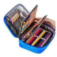 Wholesale Canvas School Pencil Cases for Girls Boy Pencilcase 72 Holes Pen Box Penalty Multifunction Storage Bag Case Pouch
